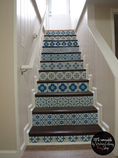 Vinyl Stair Riser Decals . 'Carnivale' Style Staircase ...