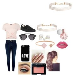"""""""Pretty in Pink"""" by princessevelyn31 on Polyvore featuring River Island, Vans, Christian Dior, Givenchy, Allurez, Humble Chic, Michael Kors, New Look, Lime Crime and NARS Cosmetics"""