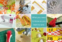 TONS of tips and tricks for sewing... care of sewing machine, bobbin storage, sewing with double needles etc!