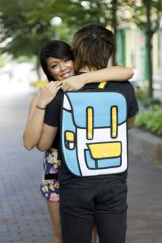 You could call it the standard, the most popular 2D Bag or 2D Backpack that we carry. Blue and yellow created the perfect recipe for this 2D Backpack. https://2dbags.co