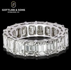 A lifetime of love is represented in this emerald cut ‪#‎Diamond‬ ‪#‎eternity‬ band. This band features stunning shared prong set diamonds that will shine as bright as your love. Visit your local ‪#‎GottliebandSons‬ retailer and ask for style number 29409. http://www.gottlieb-sons.com/product/detail/29409