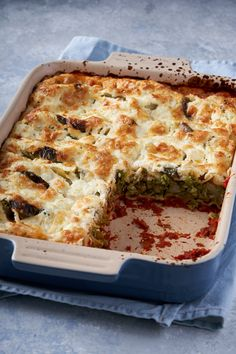 If you liked Jamie's Summer Veg Lasagne and you can afford more than 30 minutes in the kitchen then try this recipe. You'll be rewarded with a wonderful and unusual dish which has an incredible depth of flavour. Veg Lasagne, Vegetarian Lasagne, Vegetarian Roast, Tasty Vegetarian Recipes, Vegetable Recipes, Veg Dishes, Vegetable Dishes, Healthy Takeaway, Broccoli