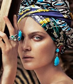 Marina Perez models tribal inspired fashion for Rabat Magazine photographed by Xavi Gordo