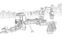 LEGO Coloring Sheet 60059 Logging Truck