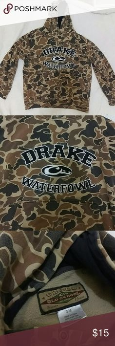 Drake Old School Camo Hoodie Sweatshirt Small Good pre-owned condition. Smoke and pet free home. Drake camp hoodie size small. Drake Jackets & Coats