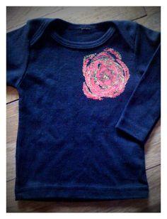 day 15: celery print flower baby shirt  #30daysofcreativity