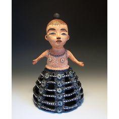 Ceramic Doll Art Sculpture  Hoop Skirt  Jenny by jennymendes, $850.00