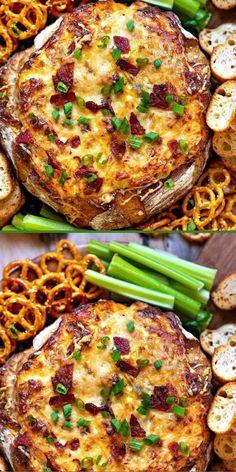 Bacon Cheese Dips, Bacon Dishes, Bacon Appetizers, Appetizer Recipes, Game Day Appetizers, Game Day Snacks, Baked Dip Recipes, Cheese Dip Recipes, Cooking Recipes