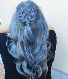 Imagen de blue, color, and hair