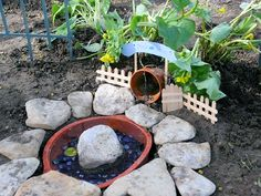 Toad decoration for natural garden toad hollow rustic Make your own toad house