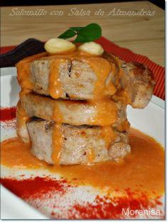 Solomillo de cerdo con salsa de almendras