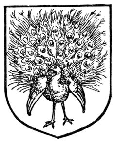 Fig. 469.—Peacock in his pride. Date	1909 Source	A Complete Guide to Heraldry. Author Arthur Charles Fox-Davies oktouse
