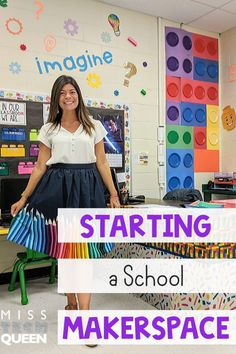 Starting a School makerspace Classroom Setup, Classroom Design, Classroom Organization, Math Classroom, Organization Ideas, Library Activities, Stem Activities, Classroom Activities, Homeschool Kindergarten