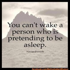 "native american quotes - Google Search....""you can't wake a person up, who is pretending to be asleep."""