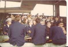 Andy Frain Ushers conference at Wrigley Field. June, 1976. before the game
