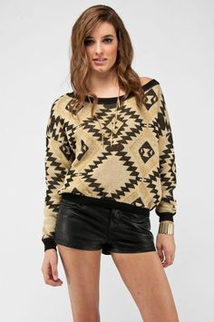Arrowhead lurex sweater