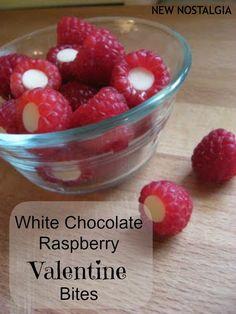 White Chocolate Raspberry Valentine Snack