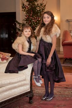 Natural fawn faux fur bolero for bridesmaids. Winter wedding inspiration. Jacket by Blanche in the Brambles. Dresses by @damselflyfg .