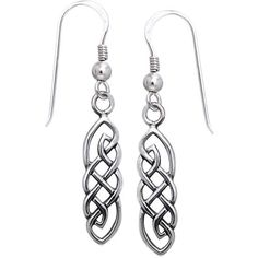 Carolina Glamour Collection Sterling Silver Celtic Imagination Woven Earrings, Men's