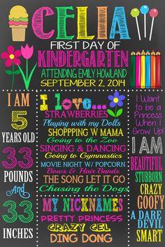 First Day of School chalkboard FREE custom by CustomPrintablesNY