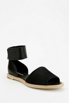 ALL BLACK Ankle-Strap Sandal #urbanoutfitters