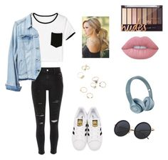 """""""Untitled #119"""" by xheartit101 on Polyvore featuring River Island, Gap, adidas Originals and Lime Crime"""