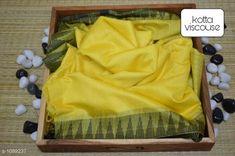 Sarees Contemporary Kota Viscose Silk Printed Saree  *Fabric* Saree - viscose silk, Blouse - viscose silk  *Size* Saree - 5.50 Mtr, Blouse - 1.00 Mtr  *Work* Printed  *Sizes Available* Free Size *   Catalog Rating: ★4.1 (250)  Catalog Name: Attractive Pretty Kota Viscose Silk Printed Sarees CatalogID_133607 C74-SC1004 Code: 195-1089237-