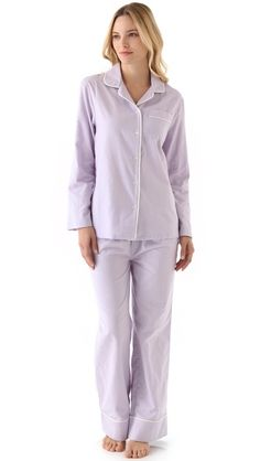 Three J NYC Jamie Pajama Set---I have a lavender flannel sleeping cap that matches this perfectly. All I need is a pipe!