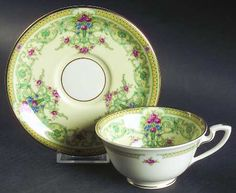 Royal Worcester Sussex Footed Cup & Saucer Set