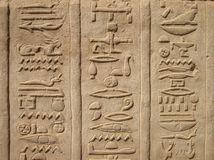 Hieroglyphics at Temple of Kom Ombo, Egypt Stock Image