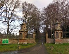 Haunted Chillingham Castle - gate entrance - Northumbrian, England . . . would love to take their ghost tour! :-)