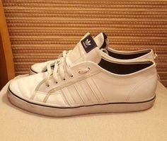 Good with the sign of wear. Leather Trainers, Adidas Originals, Adidas Sneakers, Sign, Navy, How To Wear, Clothes, Shoes, Fashion