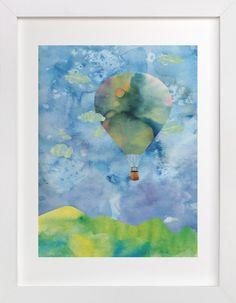 Sunset Balloon by Kanika Mathur at minted.com