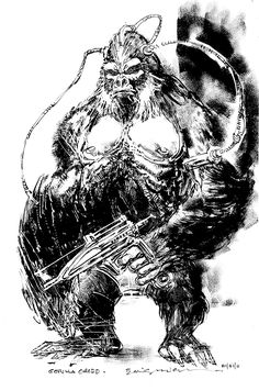 Gorilla Grodd Sketch by Bill Sienkiewicz