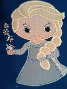 Elsa+cutieapplique+frozen+applique+design+por+BowsAndClothesDesign,+$2.99