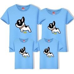 2019 Cotton Father Son t Shirt Matching Family Outfits Mom Dad Big Siz Cartoon Dog, Matching Family Outfits, Mother And Father, Dog Shirt, Mom And Dad, Sons, Big, Casual, Cotton