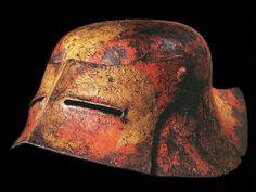 """German """"black sallet"""" helmet, 1480's."""