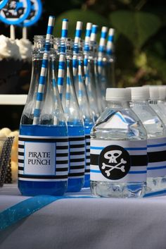 """Photo 12 of 15: Pirate Party / Birthday """"Blue Pirates Party"""" 