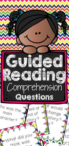 Guided Reading Comprehension Questions Great cards to generate discussion!