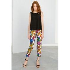 Skinny printed pants #print #modern