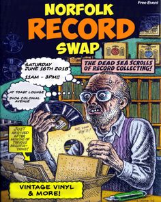 If you're in the Norfolk VA area...Mark your calendar now for the Norfolk Record Swap being held at TOAST on Saturday June 16th 2018.  11am~3pm This is a FREE event, but bring loads of cash for your purchases! Toast will also be serving from their BRUNCH menu and full bar! Mimosas...Bloody Marys...Irish Coffee...!!!  See you there!