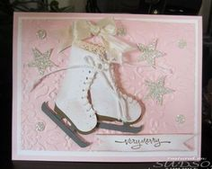 again skates are made with stampin up stocking builder punch
