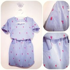 Melissa's beautiful lobster print Bettine - sewing pattern by Tilly and the Buttons