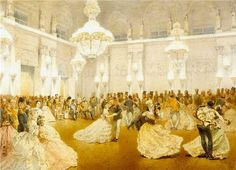 Illustration of a Ball at the Concert Hall of the Winter Palace during the official visit of Nasir al-Din S.