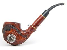 Tobacco Smoking pipe Celtic Cross Great Celtic Viking by ArtyStore, $36.99