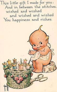 Mom loved Kewpies AND sewing...this so reminds me of her!!...love it...