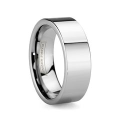 THOR 8MM / 10MM   Broad, Hefty and nearly Indestructible this smooth flat wedding band is the perfect ring to express the strength and purity of your love. Available in 8mm or 10mm. Unlike other tungsten rings online, our Tungsten Forever