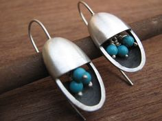 December Birthstone Tuquoise  Mod Earrings Oval by sonyarasi, $119.00