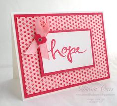 Stampin' Up! Watercolor Words - Breast Cancer Awareness - Hope - www.secretlifeofpaper.com