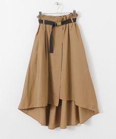 KBF+ ウエストマークイレギュラーヘムスカート Women's Fashion Dresses, Skirt Fashion, Hijab Fashion, Cute Fashion, Retro Fashion, Boho Fashion, Hijab Chic, Culottes, Japan Fashion